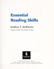 Cover of: Essential Reading Skills