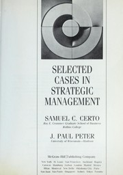 Cover of: Selected cases in strategic management