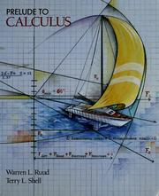 Cover of: Prelude to calculus