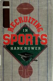 Cover of: Recruiting in sports
