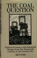 Cover of: The coal question