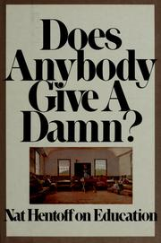 Cover of: Does anybody give a damn?