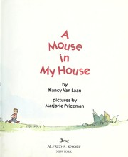 Cover of: A mouse in my house