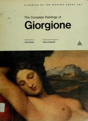 Cover of: The Complete Paintings of Giorgione