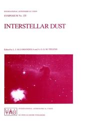 Cover of: Interstellar dust