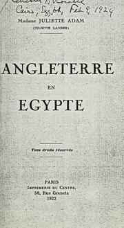 Cover of: L 'Angleterre en Egypt