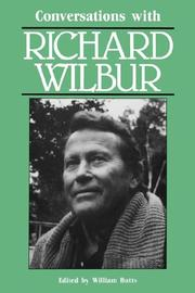 Cover of: Conversations with Richard Wilbur