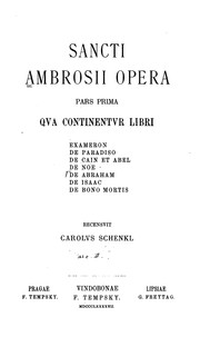 Cover of: Sancti Ambrosii Opera