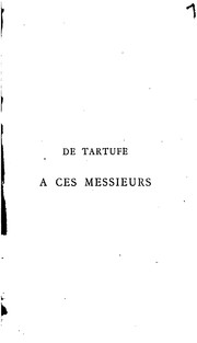 Cover of: De Tartufe à Ces messieurs