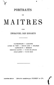Cover of: Portraits de maitres