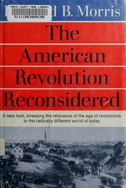 Cover of: The American Revolution reconsidered