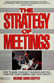 Cover of: The strategy of meetings