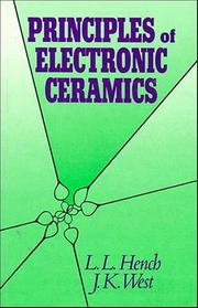 Cover of: Principles of electronic ceramics