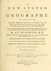 Cover of: A new system of geography