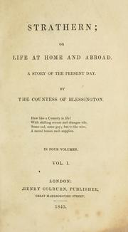 Cover of: Strathern, or, Life at home and abroad