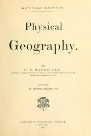 Cover of: Physical geography