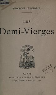 Cover of: Les demi-vierges