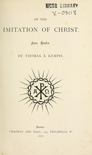 Cover of: Of the imitation of Christ: four books