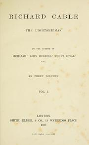 Cover of: Richard Cable, the lightshipman
