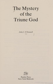 Cover of: The mystery of the triune God