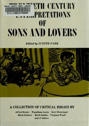 Cover of: Twentieth century interpretations of Sons and lovers; a collection of critical essays