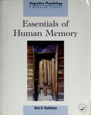 Cover of: Essentials of human memory