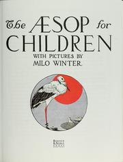 Cover of: The Aesop for children: With Pictures by Milo Winter
