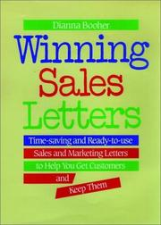 Cover of: Winning sales letters