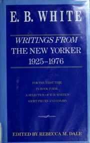 Cover of: Writings from the New Yorker: 1927-1976