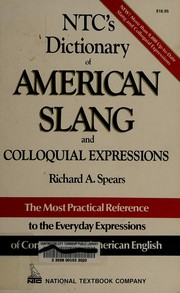 Cover of: NTC's dictionary of American slang and colloquial expressions
