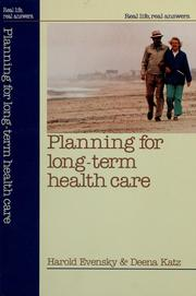 Cover of: Planning for long-term health care