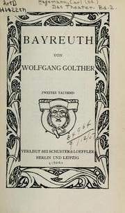 Cover of: Bayreuth