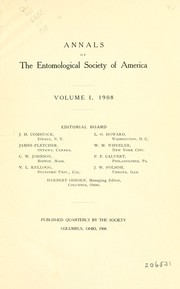 Cover of: Annals of the Entomological Society of America