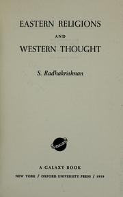 Cover of: Eastern religions and Western thought