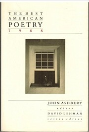 Cover of: The Best American Poetry 1988