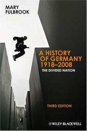 Cover of: History of Germany, 1918-2008