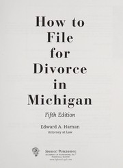 Cover of: How to file for divorce in Michigan: with forms