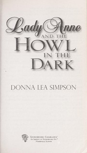 Cover of: Lady Anne and the howl in the dark