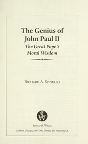 Cover of: The Genius of John Paul II