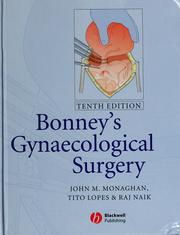 Cover of: Bonney's gynaecological surgery