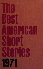 Cover of: The Best American Short Stories 1971