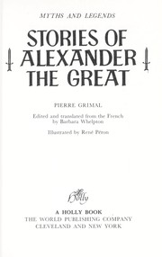 Cover of: Stories of Alexander the Great