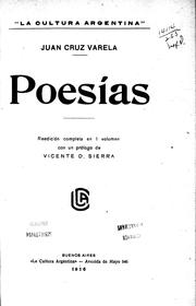 Cover of: Poesías
