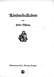 Cover of: Kinderballaden