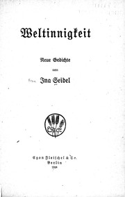 Cover of: Weltinnigkeit
