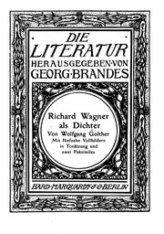 Cover of: Richard Wagner als Dichter