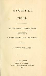 Cover of: Aeschyli Tragoediae