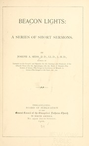 Cover of: Beacon lights: a series of short sermons