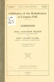 Cover of: Celebration of the rededication of Congress Hall