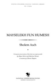 Cover of: Mayselekh fun Ḥumesh